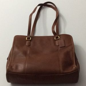 Vintage USA Made Coach Shoulder Bag Dark Tan GVC